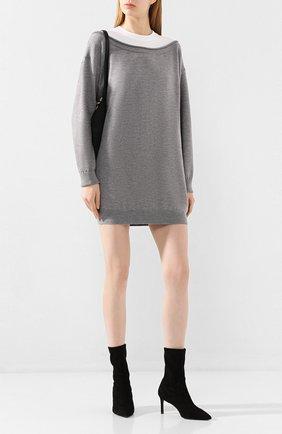 Женское шерстяное платье ALEXANDERWANG.T серого цвета, арт. 4KC1206073 | Фото 2