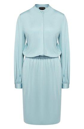 Женское платье из вискозы TOM FORD голубого цвета, арт. ABJ450-FAX159 | Фото 1