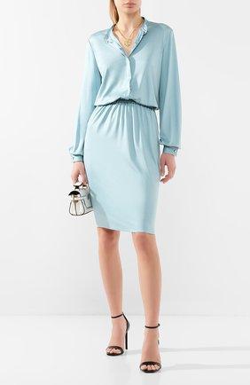 Женское платье из вискозы TOM FORD голубого цвета, арт. ABJ450-FAX159 | Фото 2