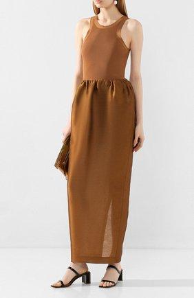 Женское платье TOTÊME коричневого цвета, арт. N0NZA 201-602-714 | Фото 2