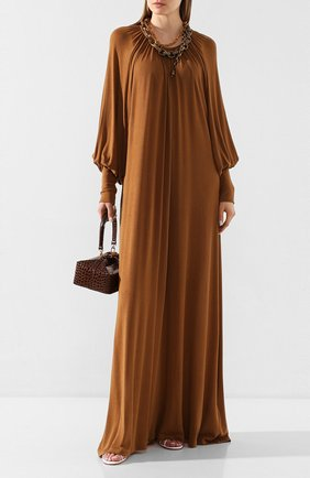 Женское платье-макси TOTÊME коричневого цвета, арт. ANVILLE 201-607-774 | Фото 2
