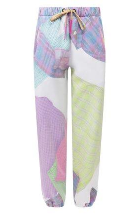 Женские хлопковые брюки NATASHA ZINKO разноцветного цвета, арт. SS20517-33 | Фото 1