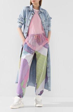 Женские хлопковые брюки NATASHA ZINKO разноцветного цвета, арт. SS20517-33 | Фото 2