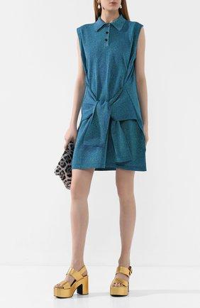 Женское платье LANVIN зеленого цвета, арт. RW-DR396M-MR03-E20 | Фото 2