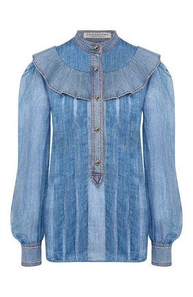 Женская рубашка PHILOSOPHY DI LORENZO SERAFINI голубого цвета, арт. A0220/2151 | Фото 1