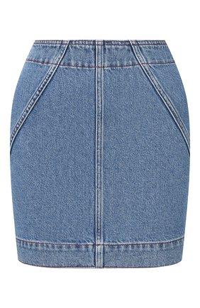 Женская джинсовая юбка PHILOSOPHY DI LORENZO SERAFINI голубого цвета, арт. V0118/2130 | Фото 1