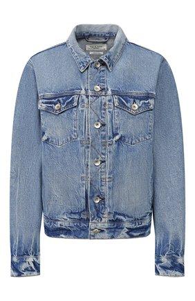 Женская джинсовая куртка RAG&BONE синего цвета, арт. WDD20S1412B1KT | Фото 1