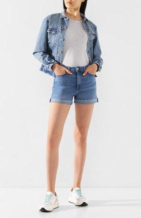 Женская джинсовая куртка RAG&BONE синего цвета, арт. WDD20S1412B1KT | Фото 2