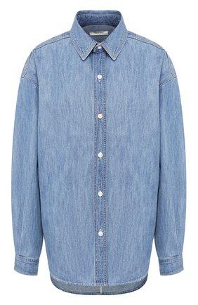Женская джинсовая рубашка RAG&BONE синего цвета, арт. WCW20SA0194419 | Фото 1