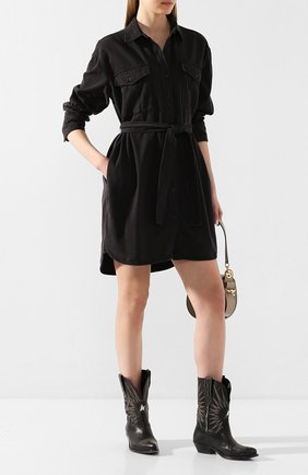 Женское джинсовое платье RAG&BONE черного цвета, арт. WCW20S30274B27   Фото 2