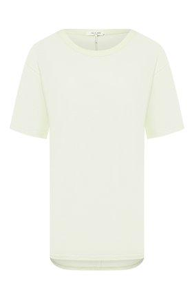 Женская хлопковая футболка RAG&BONE салатового цвета, арт. WCC20ST064CB64   Фото 1