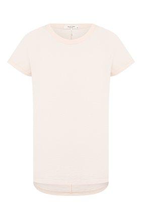 Женская хлопковая футболка RAG&BONE розового цвета, арт. WCC20ST034CH34 | Фото 1