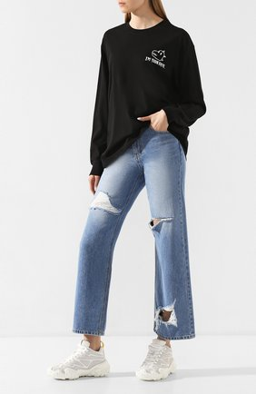Женские джинсы STEVE J & YONI P синего цвета, арт. PW2A3N-PC159W | Фото 2