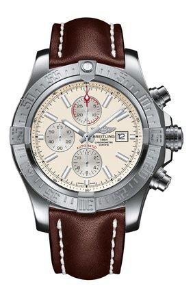 Мужские часы super avenger ii BREITLING белого цвета, арт. A1337111/G779/443X   Фото 1