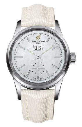 Женские часы transocean 38 BREITLING перламутрового цвета, арт. A1631012/A764/237X | Фото 1