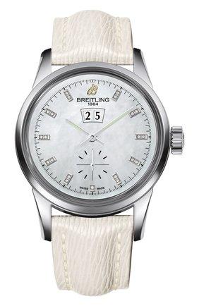 Женские часы transocean 38 BREITLING перламутрового цвета, арт. A1631012/A765/237X | Фото 1