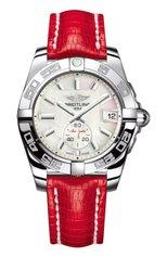 Женские часы galactic 36 automatic BREITLING бесцветного цвета, арт. A3733012/A716/114Z | Фото 1 (Материал корпуса: Сталь; Цвет циферблата: Белый; Механизм: Автомат)