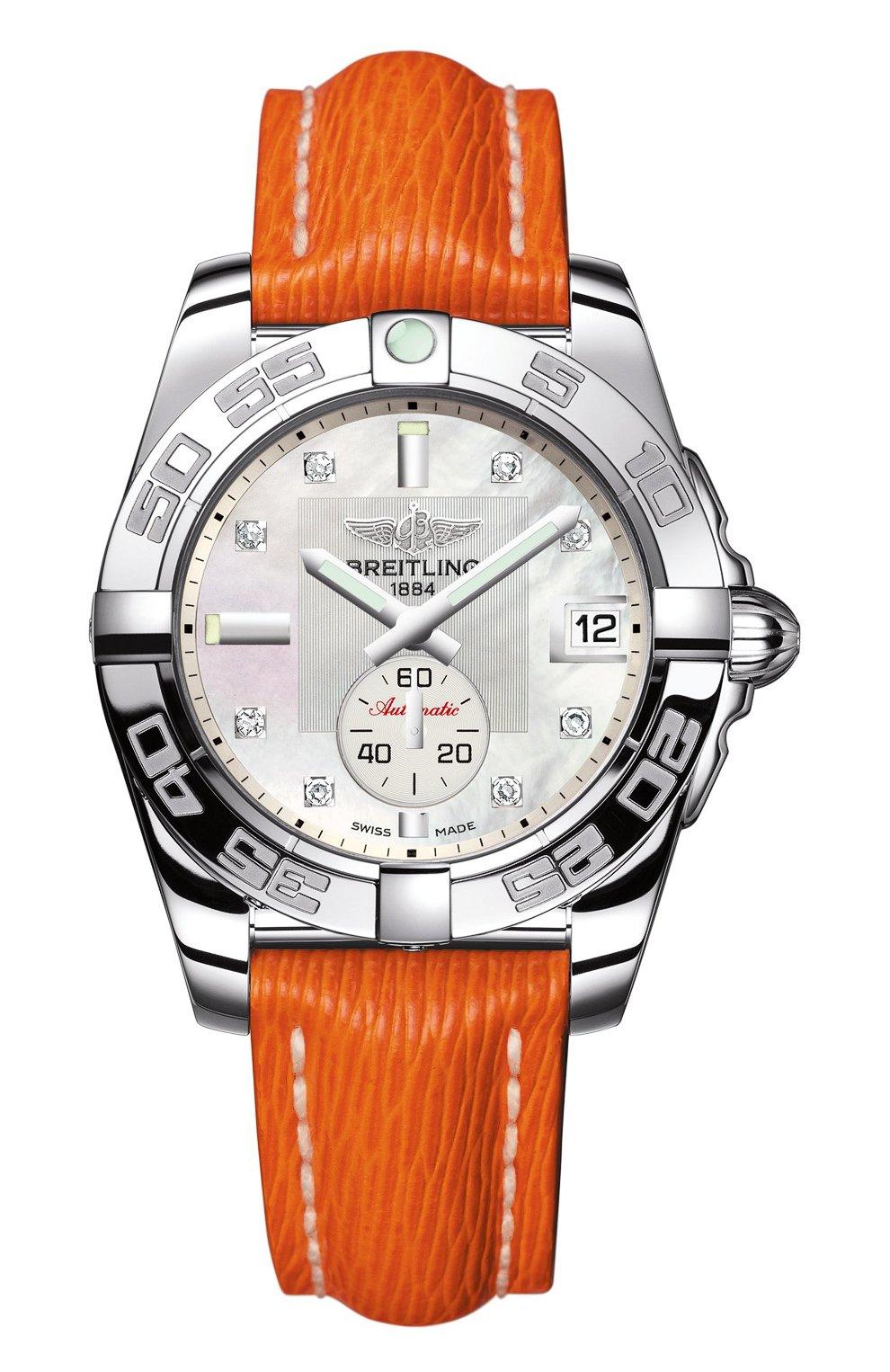 Женские часы galactic 36 automatic BREITLING перламутрового цвета, арт. A3733012/A717/217X   Фото 1