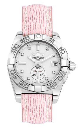 Женские часы galactic 36 automatic BREITLING перламутрового цвета, арт. A3733012/A717/239X | Фото 1
