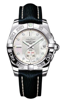 Женские часы galactic 36 automatic BREITLING перламутрового цвета, арт. A3733012/A717/256X | Фото 1