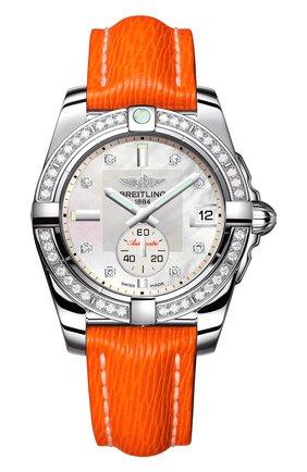 Женские часы galactic 36 automatic BREITLING перламутрового цвета, арт. A3733053/A717/217X | Фото 1
