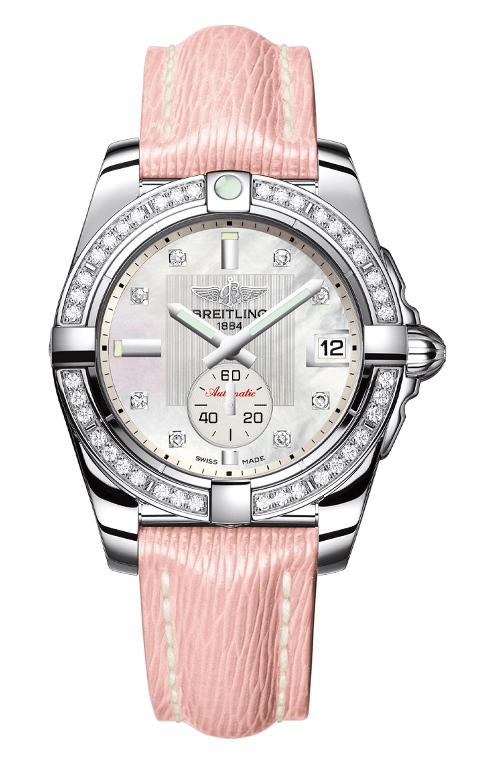 Женские часы galactic 36 automatic BREITLING перламутрового цвета, арт. A3733053/A717/239X | Фото 1