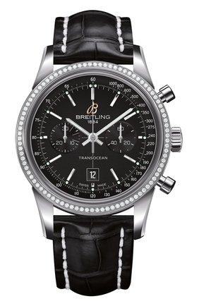 Женские часы transocean chronograph 38 BREITLING черного цвета, арт. A4131053/BC06/728P | Фото 1