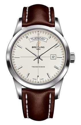 Мужские часы day & date white BREITLING бесцветного цвета, арт. A4531012/G751/437X | Фото 1 (Механизм: Автомат; Материал корпуса: Сталь; Цвет циферблата: Белый)