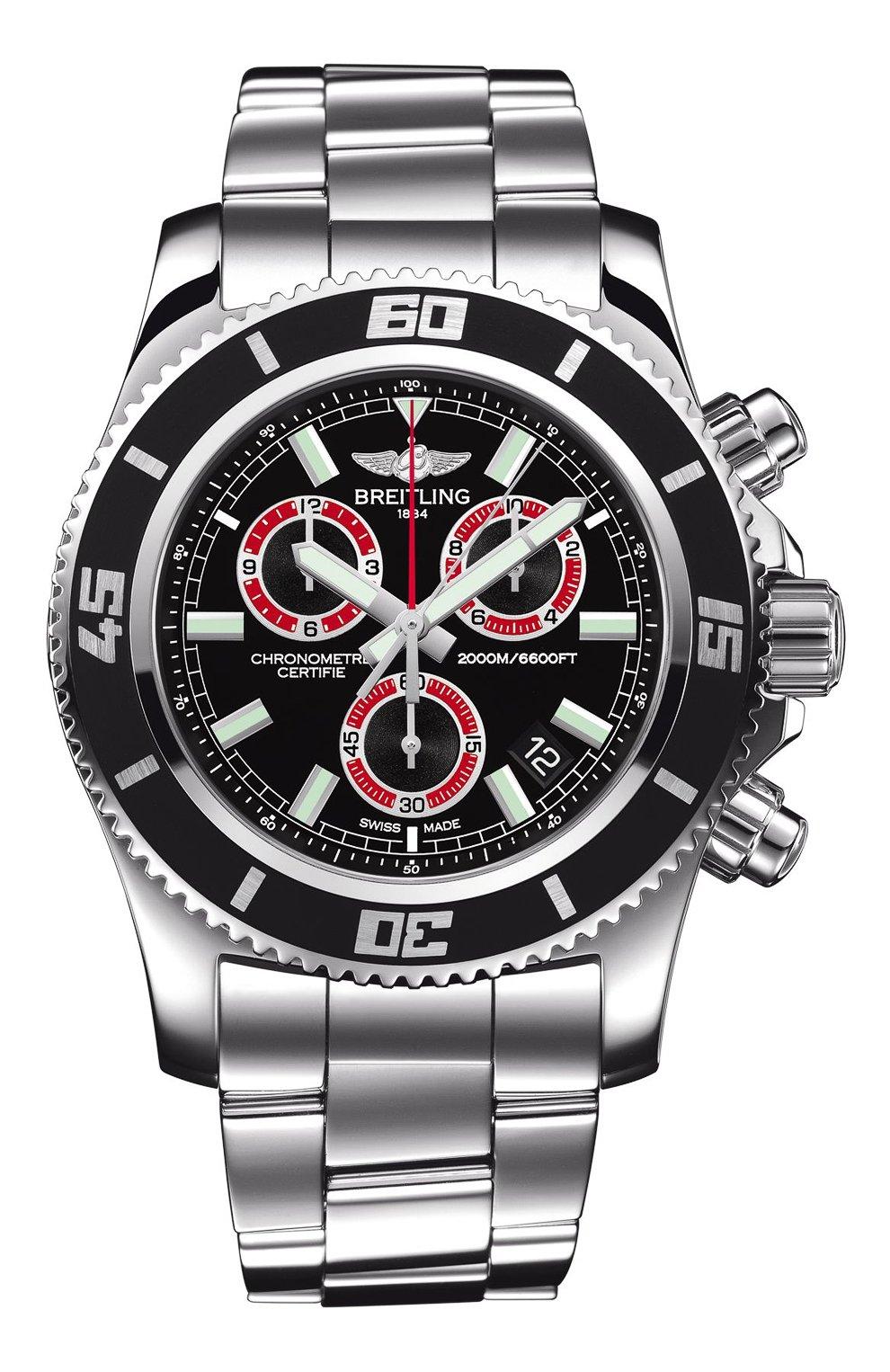 Мужские часы chronograph м2000 BREITLING черного цвета, арт. A73310A8/BB72/160A   Фото 1