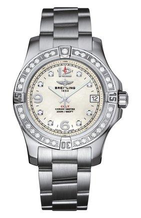 Женские часы colt 36 BREITLING перламутрового цвета, арт. A7438953/A771/178A | Фото 1