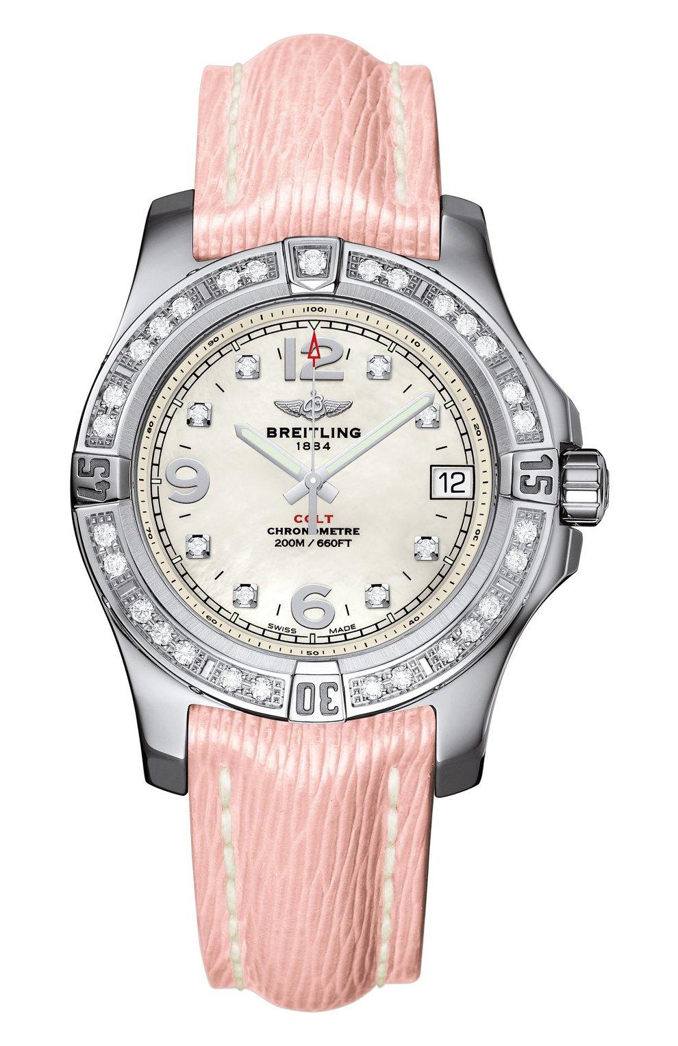 Женские часы colt 36 BREITLING перламутрового цвета, арт. A7438953/A771/239X   Фото 1