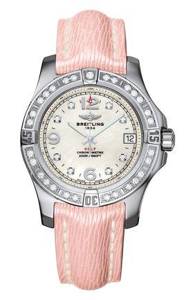 Женские часы colt 36 BREITLING перламутрового цвета, арт. A7438953/A771/239X | Фото 1