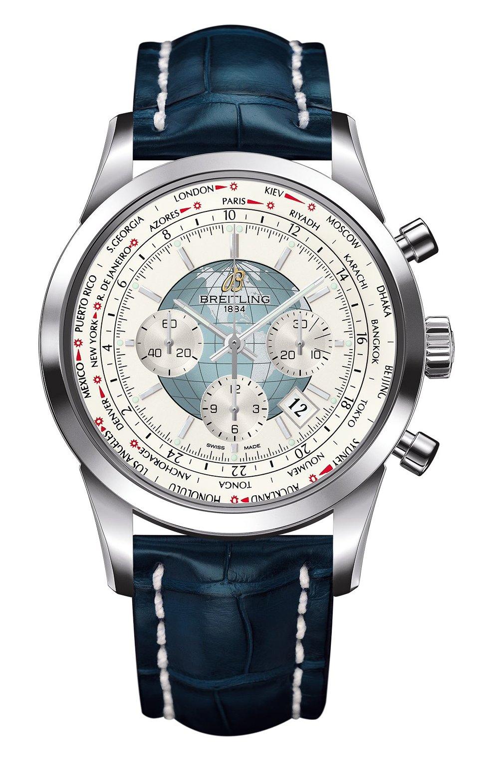 Мужские часы chronograph unitime BREITLING белого цвета, арт. AB0510U0/A732/746P   Фото 1