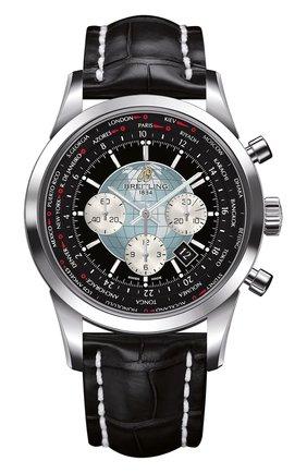 Мужские часы chronograph unitime BREITLING черного цвета, арт. AB0510U4/BB62/760P | Фото 1