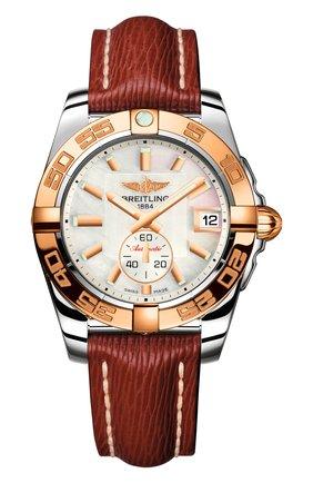 Женские часы galactic 36 automatic BREITLING перламутрового цвета, арт. C3733012/A724/216X   Фото 1