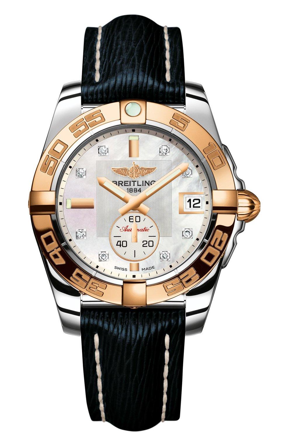 Женские часы galactic 36 automatic BREITLING перламутрового цвета, арт. C3733012/A725/215X | Фото 1