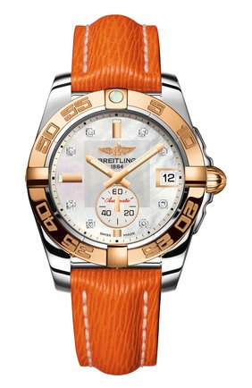 Женские часы galactic 36 automatic BREITLING перламутрового цвета, арт. C3733012/A725/217X | Фото 1