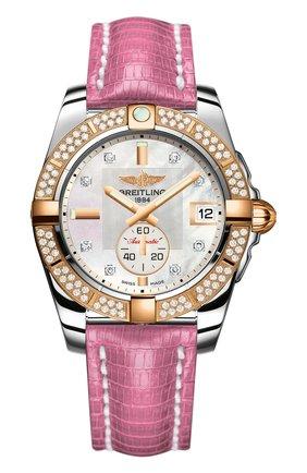 Женские часы galactic 36 automatic BREITLING перламутрового цвета, арт. C3733053/A725/174Z | Фото 1