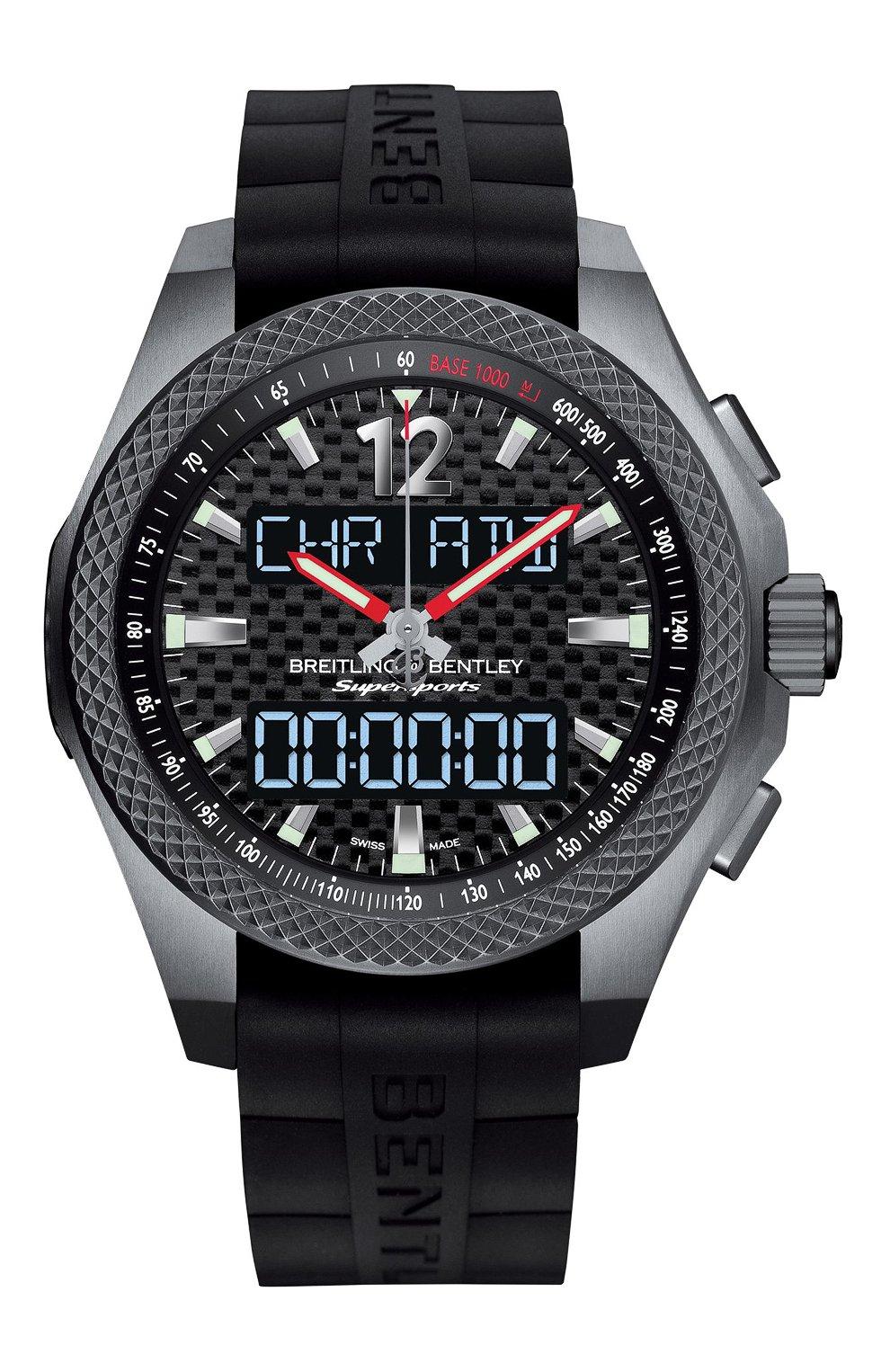 Мужские часы bentley supersports b55 BREITLING черного цвета, арт. EB552022/BF47/285S | Фото 1