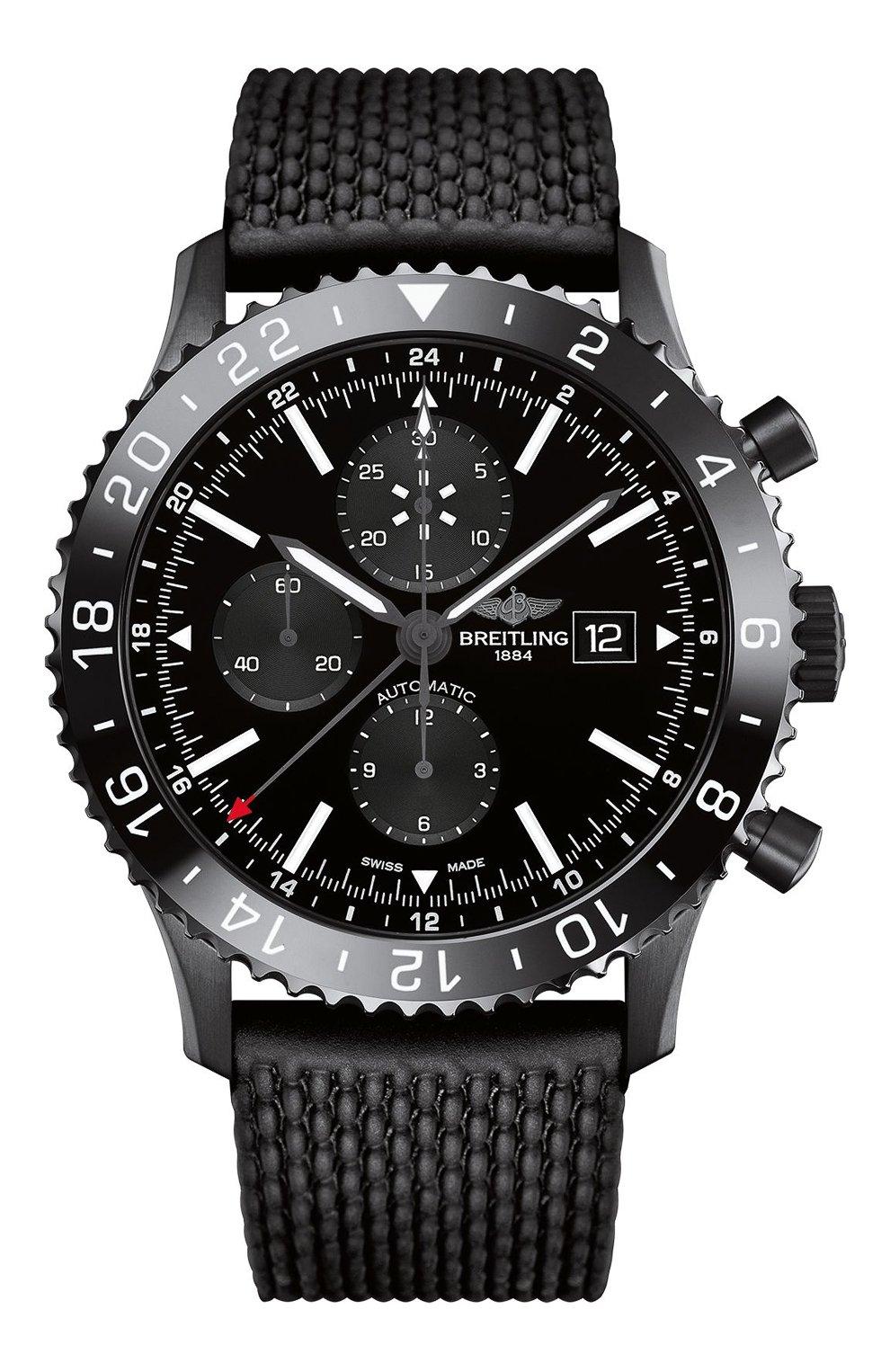 Мужские часы chronoliner BREITLING черного цвета, арт. M2431013/BF02/256S   Фото 1