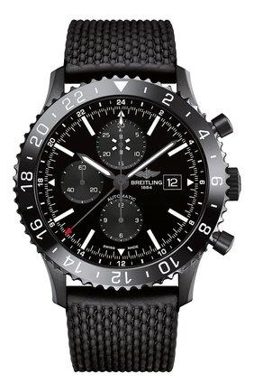 Мужские часы chronoliner BREITLING черного цвета, арт. M2431013/BF02/256S | Фото 1