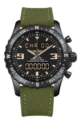 Мужские часы chronospace military blacksteel BREITLING черного цвета, арт. M7836622/BD39/105W | Фото 1