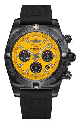 Мужские часы chronomat blacksteel BREITLING желтого цвета, арт. MB0111C3/I531/262S | Фото 1