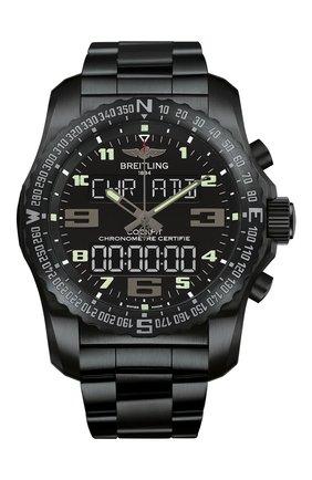 Мужские часы cockpit b50 BREITLING черного цвета, арт. VB501022/BD41/176V | Фото 1