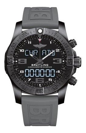 Мужские часы exospace b55 night mission BREITLING черного цвета, арт. VB5510H1/BE45/245S | Фото 1