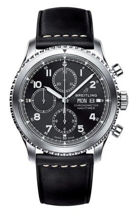 Мужские часы navitimer 8 BREITLING черного цвета, арт. A13314101B1X1 | Фото 1