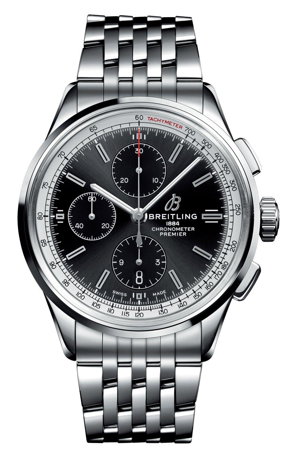 Мужские часы premier chronograph 42 BREITLING черного цвета, арт. A13315351B1A1 | Фото 1