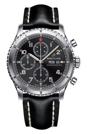 Мужские часы aviator 8 chronograph BREITLING черного цвета, арт. A13316101B1X1   Фото 1
