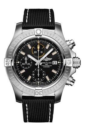 Мужские часы avenger chronograph 45 BREITLING черного цвета, арт. A13317101B1X1 | Фото 1