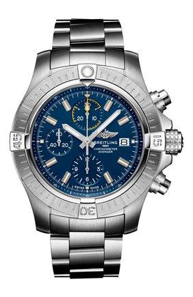 Мужские часы avenger chronograph 45 BREITLING синего цвета, арт. A13317101C1A1 | Фото 1